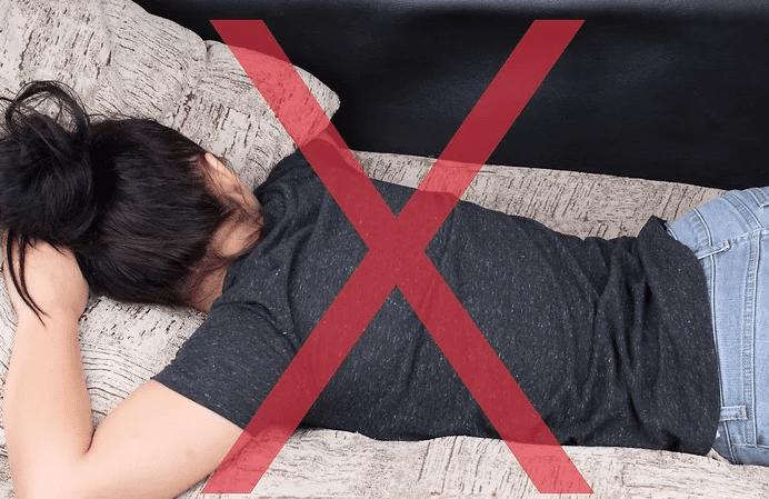 روی شکم نخوابید